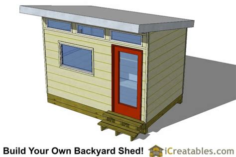 8x12 Shed Foundation by 8x12 Studio Shed Plans S2 8x12 Office Shed Plans Modern Shed Plans