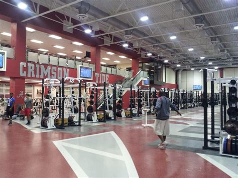 alabama weight room photo alabama s weight room plastered with a m towels and johnny cotton bowl replays
