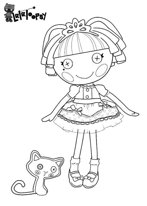 free lalaloopsy para colorear coloring pages