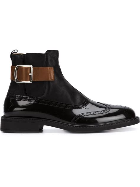 mens vivienne westwood boots vivienne westwood buckled chelsea boots in black for