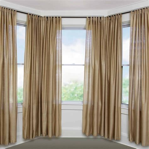 bay window drapery small bay window curtain rods john robinson house decor