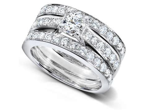 2 carats trio wedding ring set jewelocean