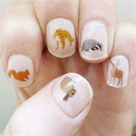 Nail Transfers by Woodland Animal Nail Transfers By Kate Broughton