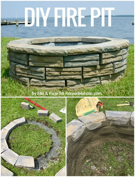 building a pit with retaining wall blocks remodelaholic diy retaining wall block pit