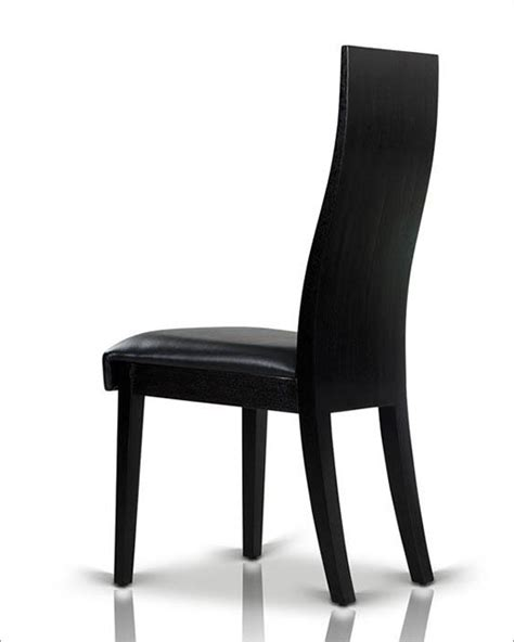 Contemporary Oak Dining Chairs Black Oak Dining Chair In Contemporary Style 44d616ch Set Of 2