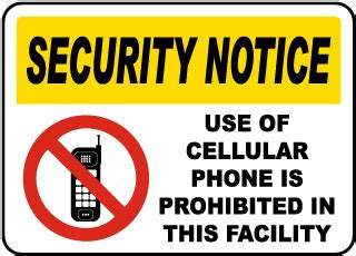 no cell phone signs, cell phone signs, turn off cell phone