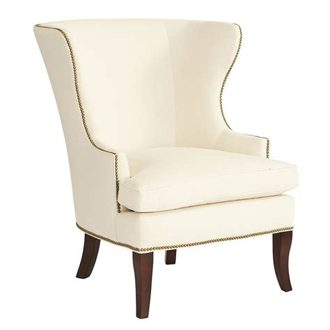 Winged Backed Chairs Design Ideas Thurston Wing Chair With Antique Brass Nailheads Ballard Designs