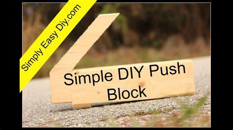 diy simple table  push block youtube