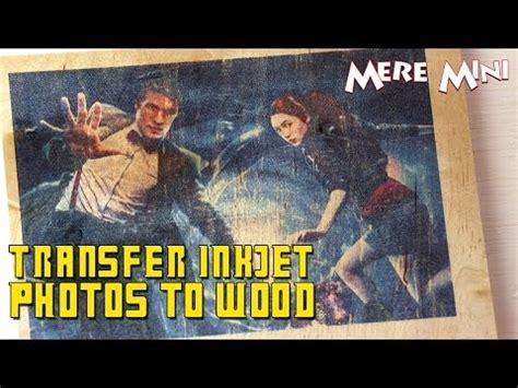 simple trick    transfer images  wood