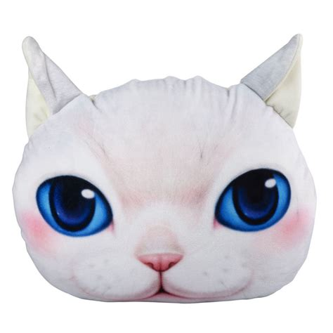 plush pillows 3d soft stuffed plush cat pillow home decor