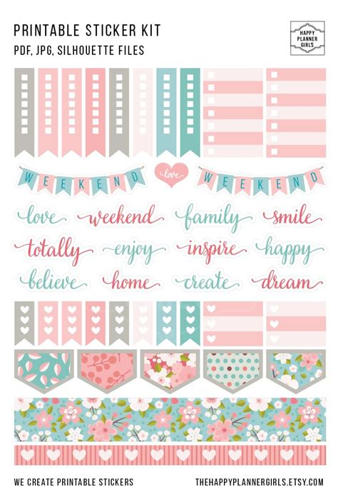 printable weekly stickers 3324 best planner stickers images on pinterest planner