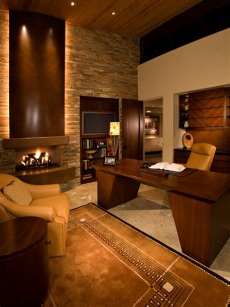 stylish  dramatic masculine home office design ideas digsdigs