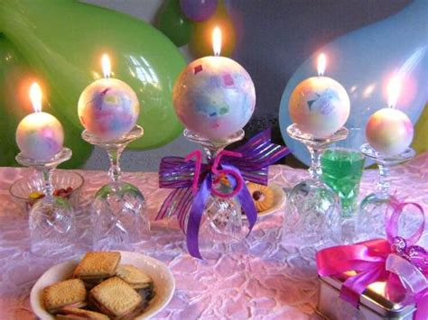 Birthday Centerpieces Party Favors Ideas Candle Centerpieces For Birthday
