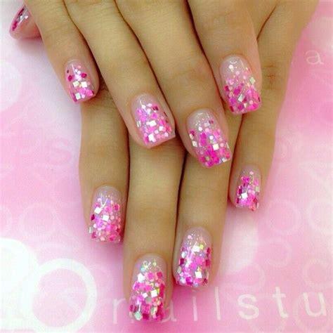 Ribbon Nail Glitter instagram photo by 20nailstudio nail nails nailart nails pink ribbon