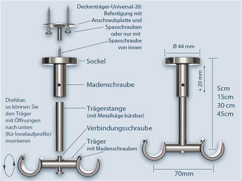 Gardinenstange Anbringen Abstand by Gardinenstange Zweil 228 Ufig Mit Deckenhalterung Universal 20