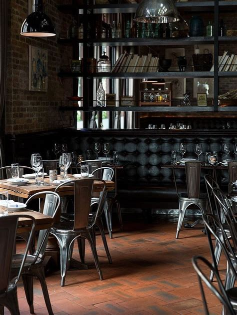 Tolix Bistro Chair Tolix Cafe Chairs And Leather Homey Restaurant Interiors Pinterest Chairs