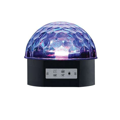 home depot dome light alsy 6 in black led music party light 18909 000 the
