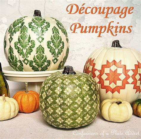 Decoupage Pumpkin - it s inspiration friday no 80 welcome at the picket fence