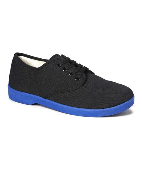 canvas oxford shoes zig zag s canvas oxford shoes blue sole black navy
