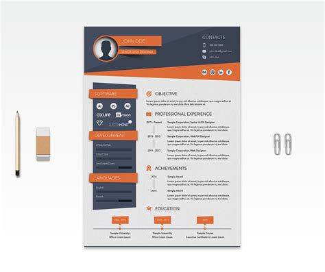 cv template ai free creative resume cv design template ai file