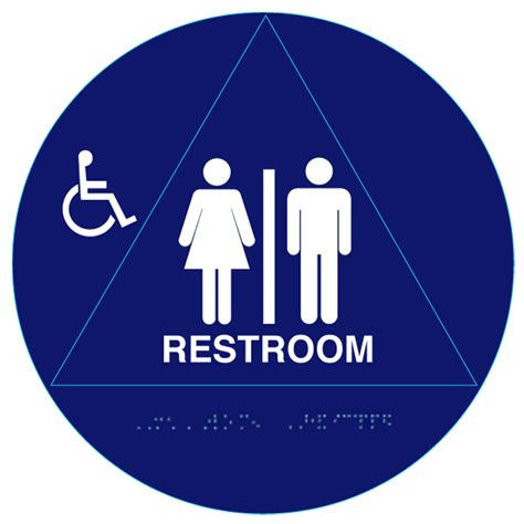 unisex bathrooms california 12 quot circular raised handicap unisex ada restroom signs and