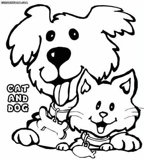 cats and dogs coloring pages to print dog and cat coloring pages to print coloring pages