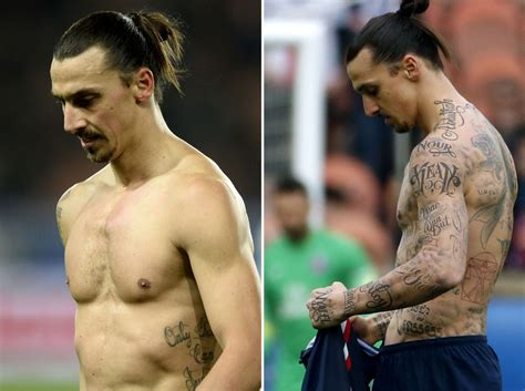 ibrahimovic tattoo vs caen psg s zlatan ibrahimovic says removable tattoos were for