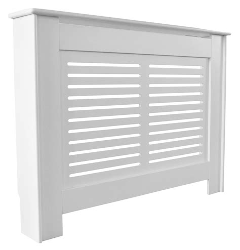 Shower Baths B Q suffolk medium white painted radiator cover departments