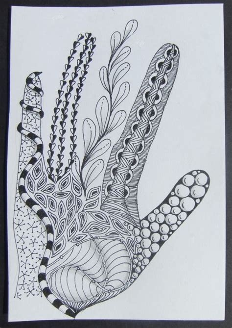 zentangle pattern enyshou time to tangle adult colouring shoes feets hands