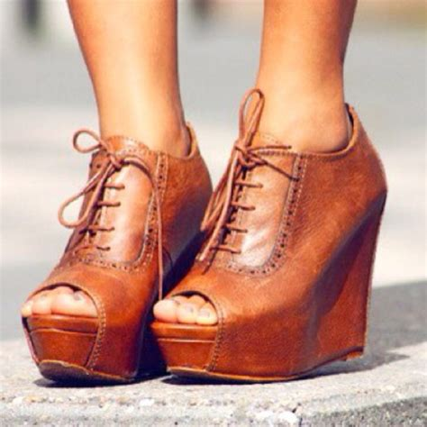 oxford like shoes shoes wedge booties wedges boots brown leather boots