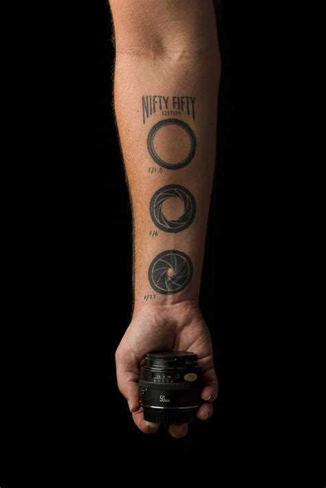 aperture tattoo f 1 8 f 6 f 11 photography tattoos
