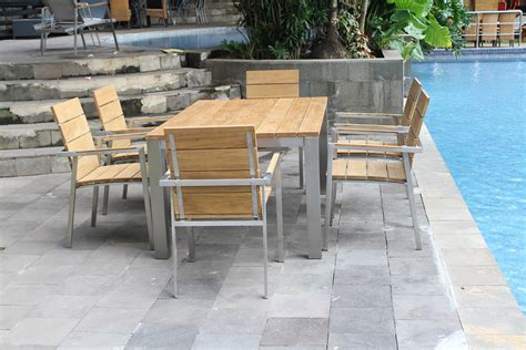 Industrial Patio Furniture Industrial Chic Outdoor Dining Furniture Completehome