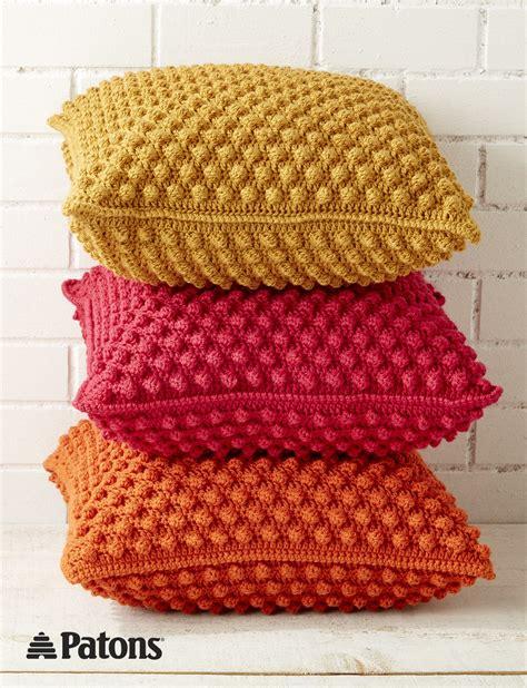 do knitting bobble licious pillows free crochet pattern