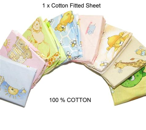 Baby Crib Bedding Patterns Baby Nursery Cotton Fitted Sheet All Sizes Crib Cot Bed Matching Bedding Pattern Ebay