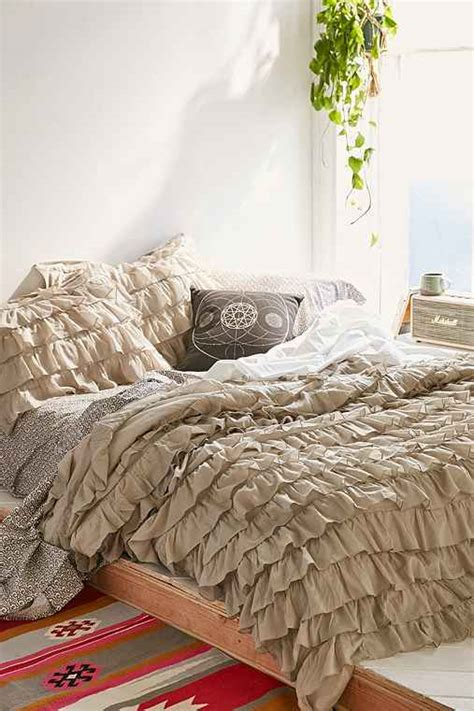 waterfall bedding urban outfitters waterfall ruffle duvet cover gray twin xl
