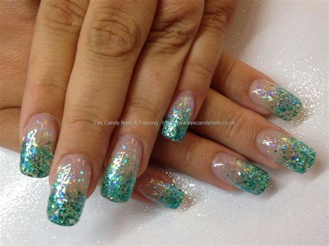 aqua acrylic nails eye nails nail gallery