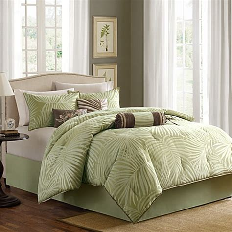 madison park freeport jacquard sage 7 piece comforter set