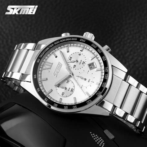 Jam Tangan Analog Skmei 9096 White Stainless Like Seiko skmei jam tangan analog pria 9096cs white jakartanotebook