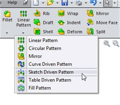 pattern a sketch solidworks the sketch driven pattern feature