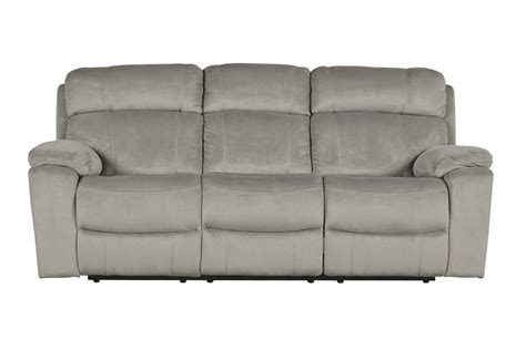 Tony Granite Power Reclining Sofa With Adjustable Headrest