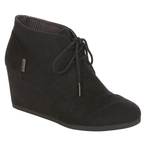 Boots Fashion Ad An 30 Wedges Hitam s wedge fashion bootie josie black v it up at sears