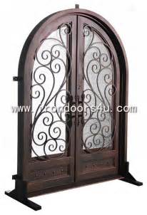 Rot Iron Chandeliers Wrought Iron Doors Dad 009 Traditional Front Doors