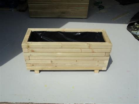 Pressure Treated Wood For Planter Boxes by Block Style Trough Planters Made From Pressure Treated