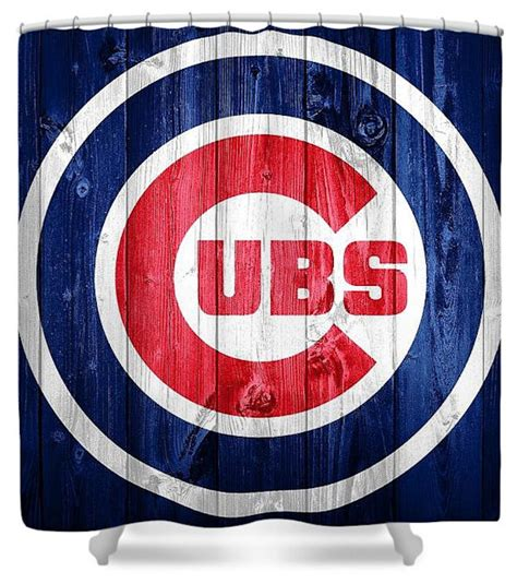chicago cubs shower curtain chicago cubs barn door artistic baseball shower curtain