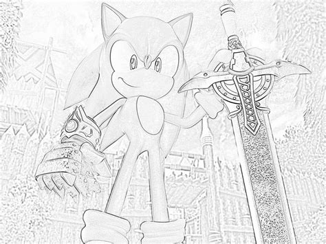 coloring pics of sonic and the black knight coloring pages