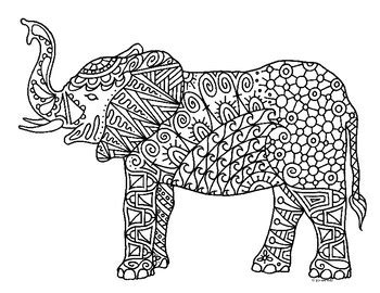 detailed elephant coloring pages elephant detailed coloring pages coloring pages