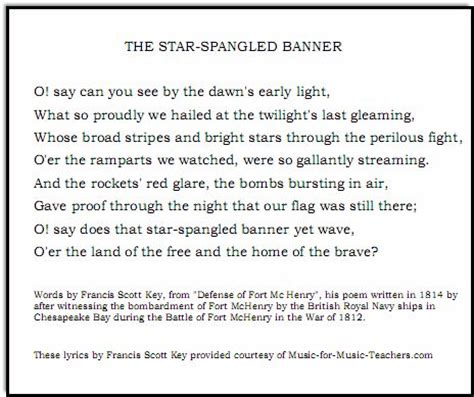 printable lyrics god on the mountain pdf files of star spangled banner lead sheets in various