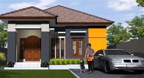desain rumah minimalis 1 lantai tak depan dan warna cat pilihan sketsa denah desain rumah