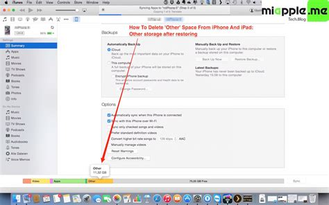 iphone other storage how to delete other space on iphone and miapple me