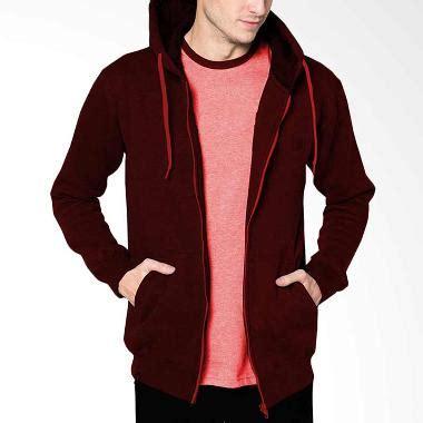 Jual Jaket Hoodie Abu Kombi Navy Merah jual baju luaran pria terbaru branded harga murah